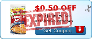 $0.50 off ONE (1) Hungry Jack Hashbrown Potatoes