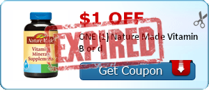 $1.00 off ONE (1) Nature Made Vitamin B or d