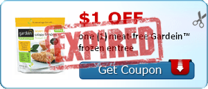 $1.00 off one (1) meat-free Gardein™ frozen entree