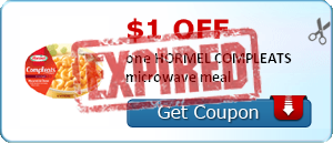 $1.00 off one HORMEL COMPLEATS microwave meal