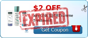 $2.00 off any ONE (1) TRESemme Treatment