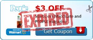 $3.00 off Starbucks Macchiato and PEOPLE magazine