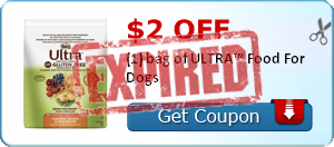 $2.00 off (1) bag of ULTRA™ Food For Dogs