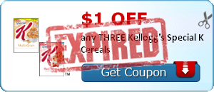 $1.00 off any THREE Kellogg's Special K Cereals