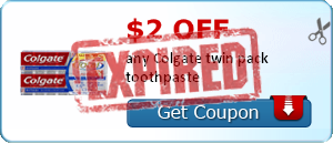 $2.00 off any Colgate twin pack toothpaste