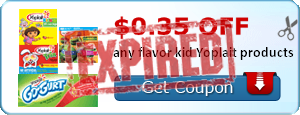 $0.35 off any flavor kid Yoplait products