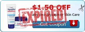 $1.50 off any one Aquaphor Skin Care
