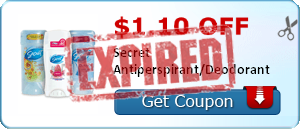 $1.10 off Secret Antiperspirant/Deodorant