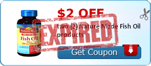 $2.00 off two (2) Nature Made Fish Oil products