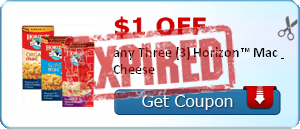 $1.00 off any Three (3) Horizon™ Mac & Cheese