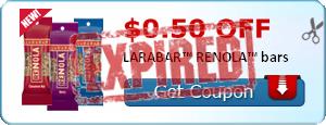 $0.50 off LARABAR™ RENOLA™ bars
