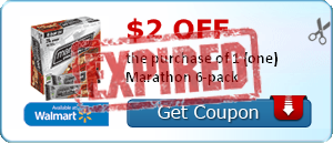 $2.00 off the purchase of 1 (one) Marathon 6-pack