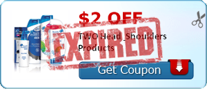 $2.00 off TWO Head & Shoulders Products