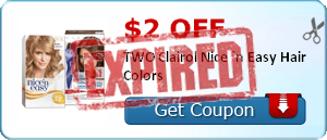$2.00 off TWO Clairol Nice `n Easy Hair Colors