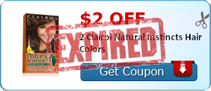 $2.00 off 2 Clairol Natural Instincts Hair Colors