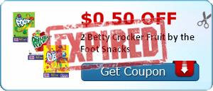 $0.50 off 2 Betty Crocker Fruit by the Foot Snacks