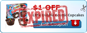 $1.00 off Little Debbie Cosmic Cupcakes