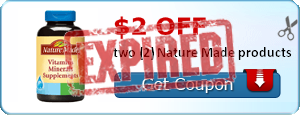 $2.00 off two (2) Nature Made products