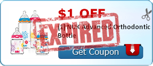 $1.00 off (1) NUK Advanced Orthodontic Bottle
