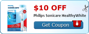 $10.00 off Philips Sonicare HealthyWhite