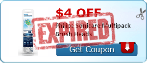 $4.00 off Philips Sonicare Multipack Brush Heads