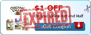 $1.00 off Organic Valley Half and Half