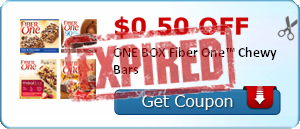 $0.50 off ONE BOX Fiber One™ Chewy Bars