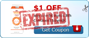 $1.00 off any one 64 ounce 8th Continent Soymilk