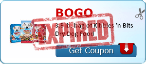 BOGO 3.5 lb. bag of Kibbles 'n Bits Dry Dog Food
