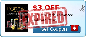$3.00 off 2 L'Oreal Paris Advanced Haircare Items