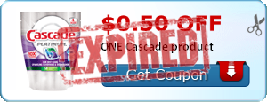 $0.50 off ONE Cascade product
