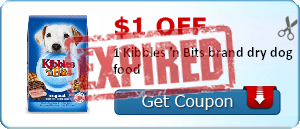 $1.00 off 1 Kibbles 'n Bits brand dry dog food