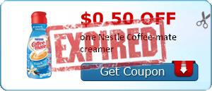 $0.50 off one Nestle Coffee-mate creamer