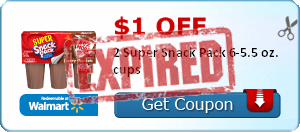 $1.00 off 2 Super Snack Pack 6-5.5 oz. cups