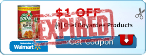 $1.00 off (4) Chef Boyardee Products
