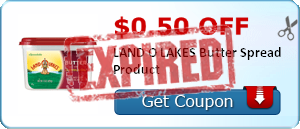 $0.50 off LAND O LAKES Butter Spread Product