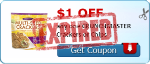 $1.00 off any one CRUNCHMASTER Crackers or Chips