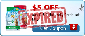 $5.00 off any BLUE Naturally Fresh cat litter