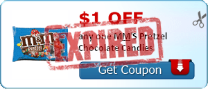 $1.00 off any one M&M'S Pretzel Chocolate Candies
