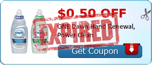 $0.50 off ONE Dawn Hand Renewal, Power Clean