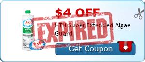 $4.00 off HTH Super Extended Algae Guard