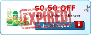 $0.50 off ONE Gain Fabric Enhancer