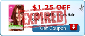 $1.25 off ONE Herbal Essences Hair Color Product