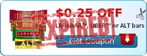 $0.25 off LARABAR™, UBER™ or ALT bars