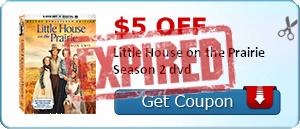 $5.00 off Little House on the Prairie Season 2 dvd