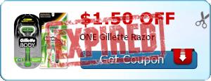 $1.50 off ONE Gillette Razor