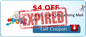 $4.00 off Laugh & Learn Sing-a-Song Med Kit