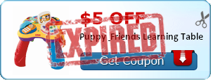 $5.00 off Puppy & Friends Learning Table