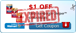 $1.00 off TWO Hamburger Helper™ Skillet Meals
