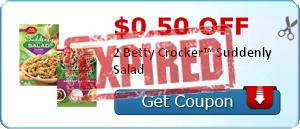 $0.50 off 2 Betty Crocker™ Suddenly Salad